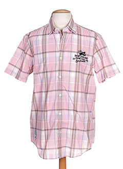 Chemise manches courtes rose CAMBE pour homme