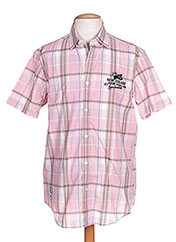 Chemise manches courtes rose CAMBE pour homme seconde vue