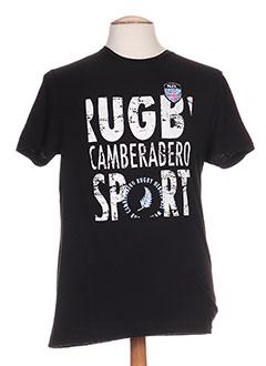 T-shirt manches courtes noir CAMBE pour homme