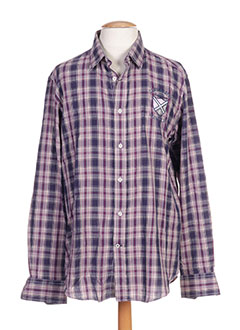 Chemise manches longues violet CAMBE pour homme