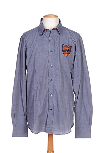 Chemise manches longues bleu CAMBE pour homme