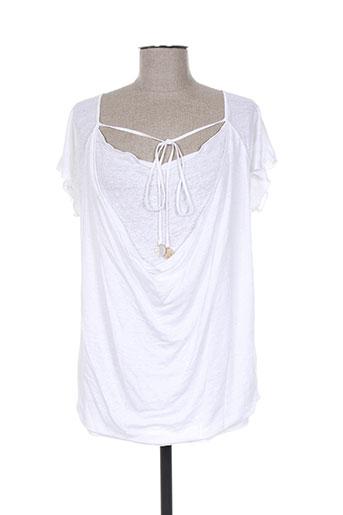 rivieres de lune t-shirts femme de couleur blanc