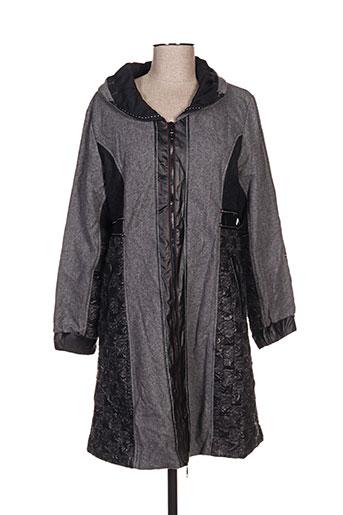 l33 manteaux femme de couleur gris