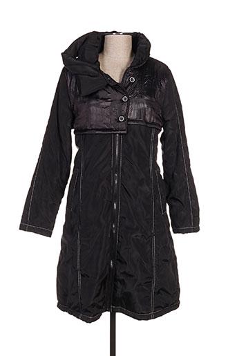 l33 manteaux femme de couleur noir