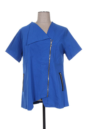 Veste casual bleu DEOMINO pour femme