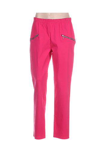 Pantalon casual rose DEOMINO pour femme