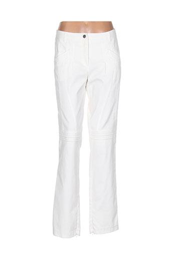 luisa cerano pantalons femme de couleur blanc