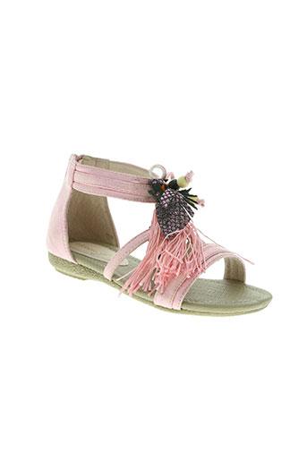 elue par nous chaussures fille de couleur rose