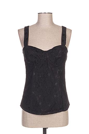 top studio chemises femme de couleur noir