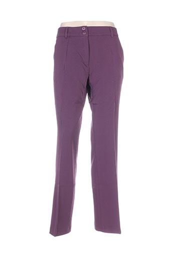 venca pantalons femme de couleur violet