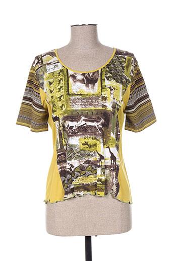 francoise t-shirts femme de couleur jaune