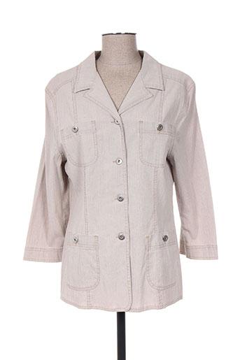 Veste casual beige FRANCOISE DE FRANCE pour femme
