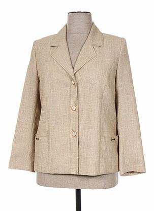 Veste chic / Blazer beige C.S CREATIONS pour femme
