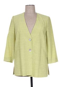 Veste chic / Blazer vert FRANCOISE F pour femme