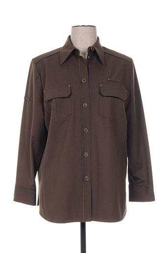 frank walder vestes femme de couleur marron