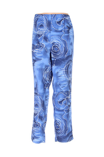 regine pantalons femme de couleur bleu