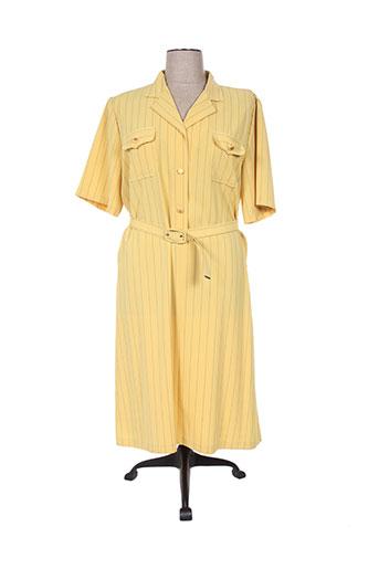 regine robes femme de couleur jaune