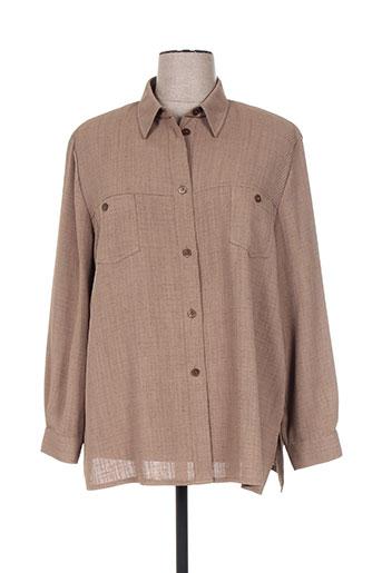 Veste casual marron DELMOD pour femme