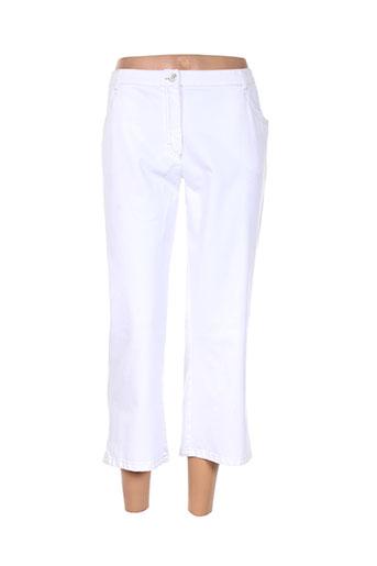mayerline pantacourts femme de couleur blanc