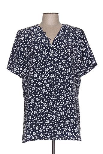 marcelle griffon chemises femme de couleur bleu