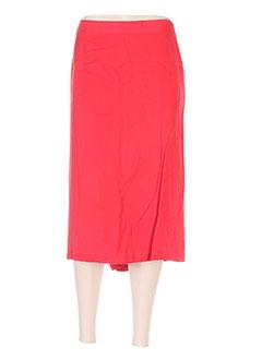 Jupe mi-longue rouge FRANCOISE DE FRANCE pour femme