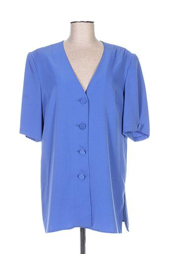 Veste casual bleu FRANCOISE DE FRANCE pour femme