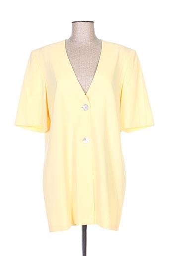 Veste casual jaune FRANCOISE DE FRANCE pour femme