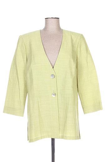 Veste casual vert FRANCOISE DE FRANCE pour femme
