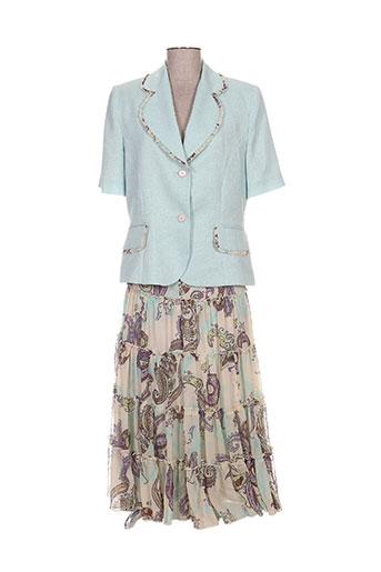 Veste/jupe bleu C.S CREATIONS pour femme