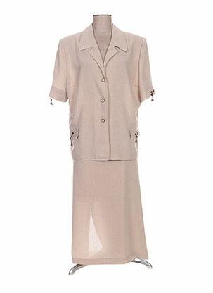 Veste/jupe beige C.S CREATIONS pour femme