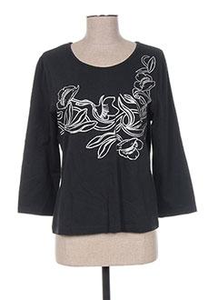 T-shirt manches longues noir FRANK EDEN pour femme