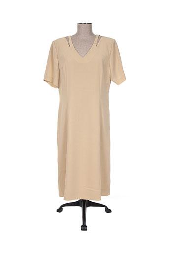 Robe mi-longue beige CHRISTIAN MARRY pour femme