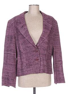 Veste chic / Blazer violet FRANCOISE F pour femme