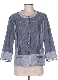 Veste casual bleu FRANCOISE F pour femme