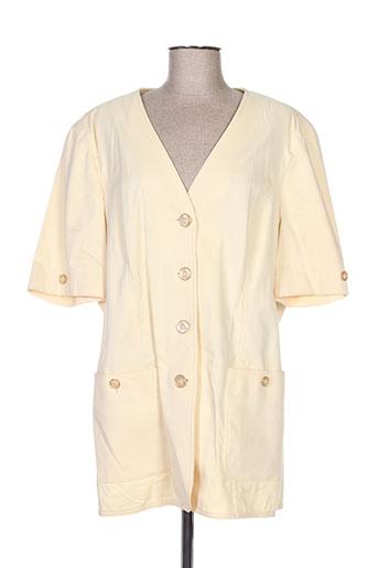 Veste casual jaune DELMOD pour femme