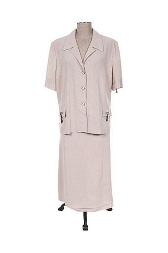 Veste/jupe beige CREATIONS SONIA pour femme