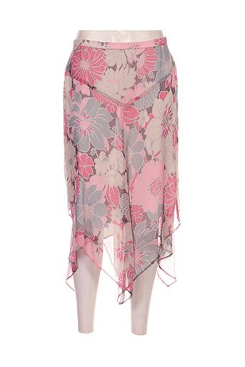 gerard pasquier jupes femme de couleur rose
