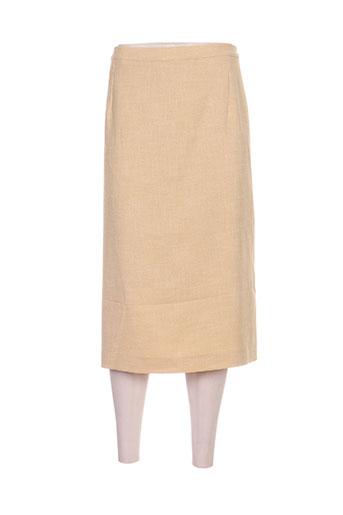 Jupe mi-longue jaune COUTUREINE pour femme