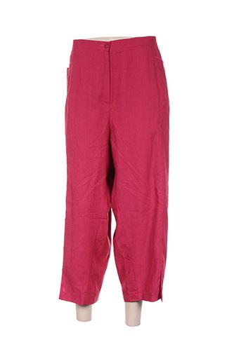 regine pantacourts femme de couleur rose