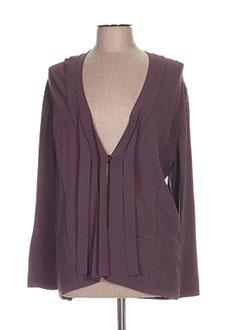 Gilet manches longues violet MAYERLINE pour femme