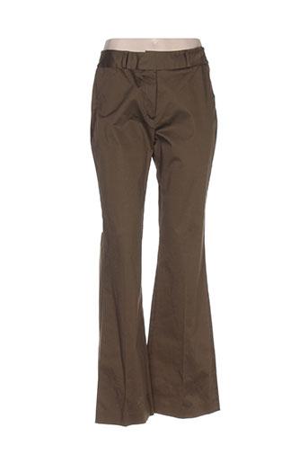 antonelle pantalons femme de couleur vert