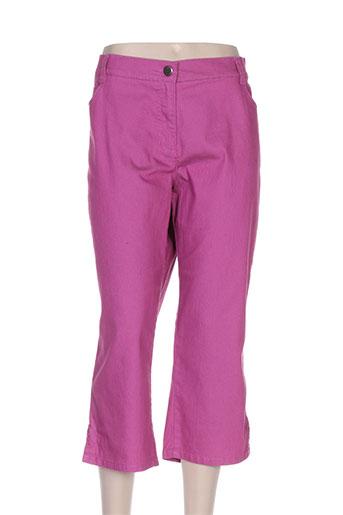 lebek pantacourts femme de couleur rose