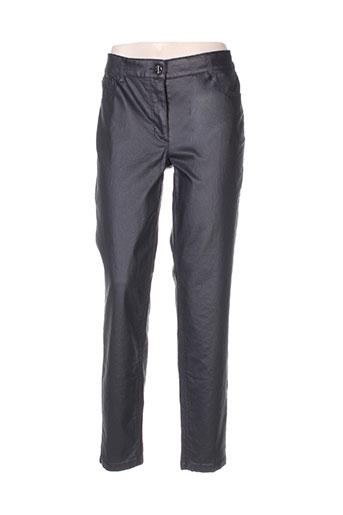 basler pantalons femme de couleur noir