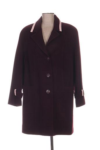 creations sonia manteaux femme de couleur rouge