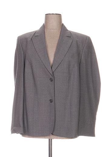 delmod vestes femme de couleur gris