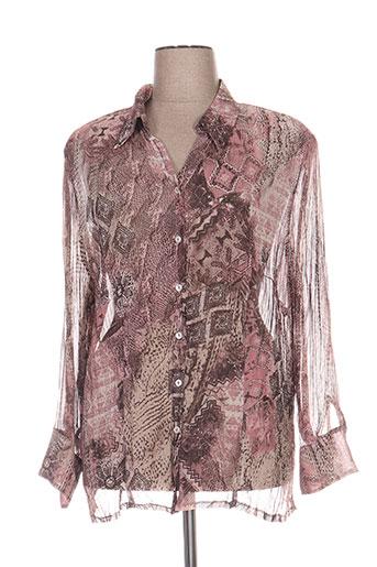 basler chemises femme de couleur rose