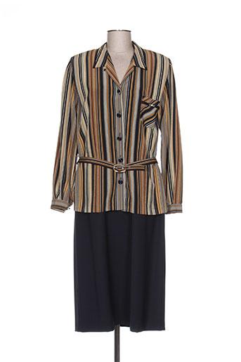 Veste/robe marron REGINE pour femme