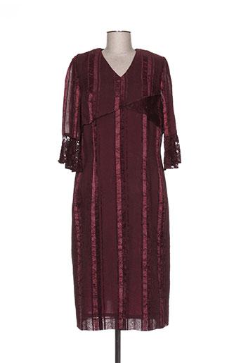 Robe mi-longue violet CHRISTIAN MICHEL pour femme