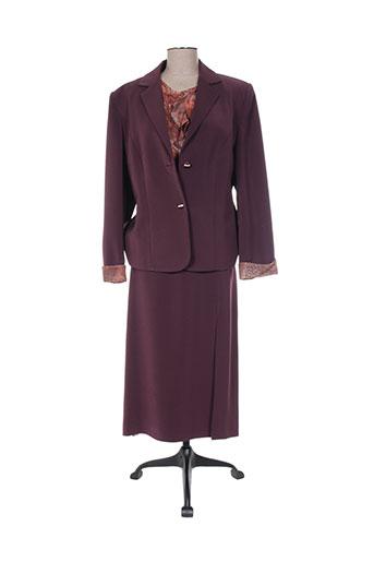 Veste/jupe violet CREATIONS SONIA pour femme