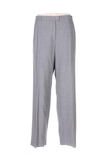 Pantalon casual gris DELMOD pour femme